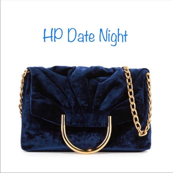 Stella McCartney Bags   Nina Blue Velvet Bag   Poshmark b7aee9c5ff